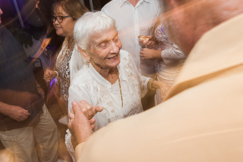 - The amazing photo of grandma on the dance-floor for the 10 seconds that her hips allow her…