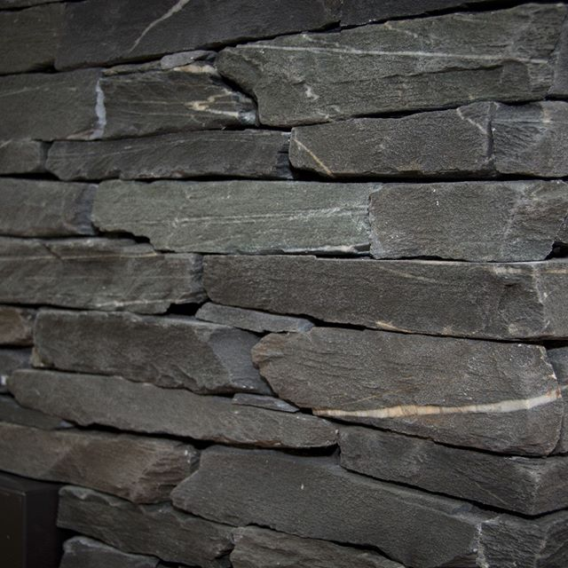 dry-stacked black slate