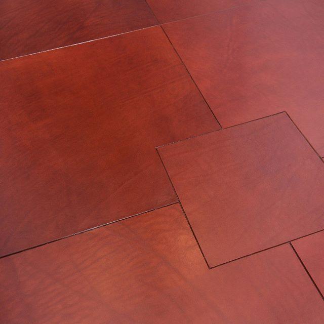 hand-tooled leather floor