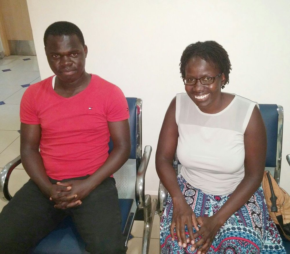 Joseph and Theresa (one of our co-founders) last year in Kenya.