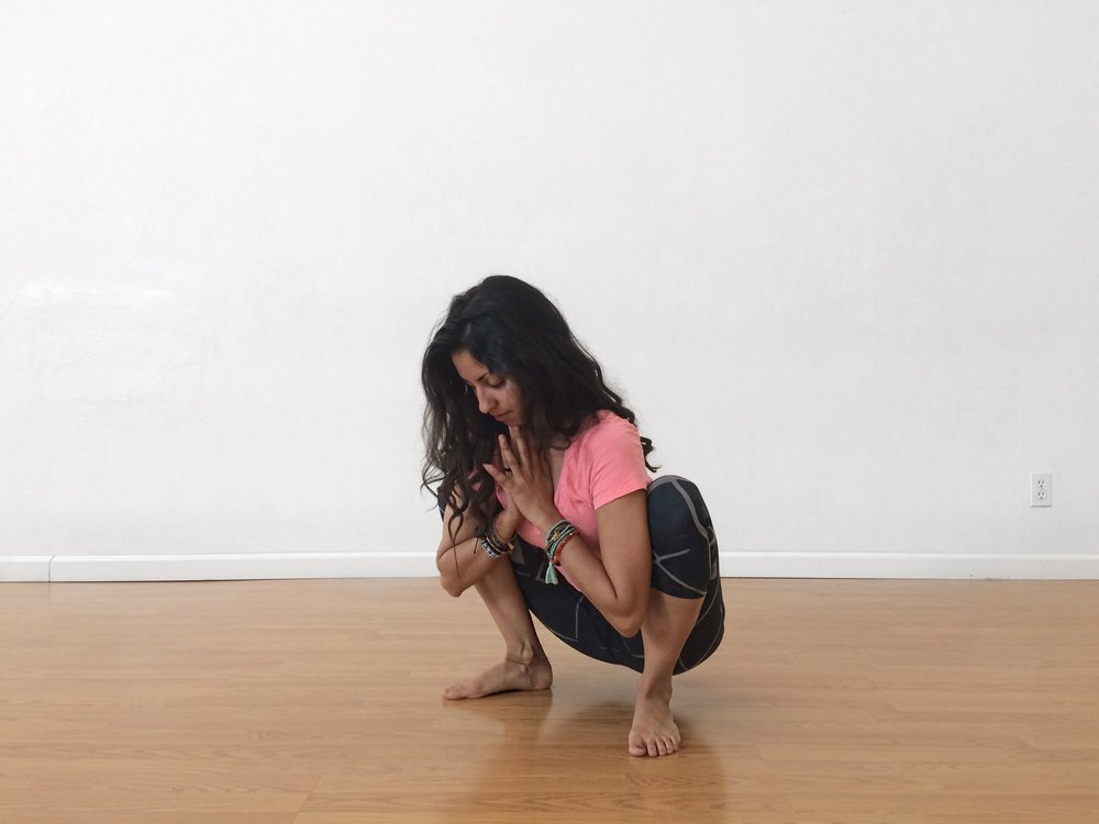 Yogi Squat yoga pose