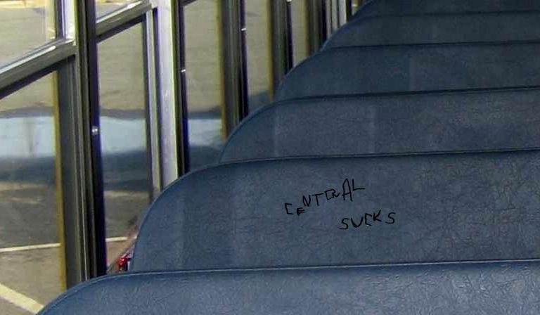 schoolbus seat central sucks-close