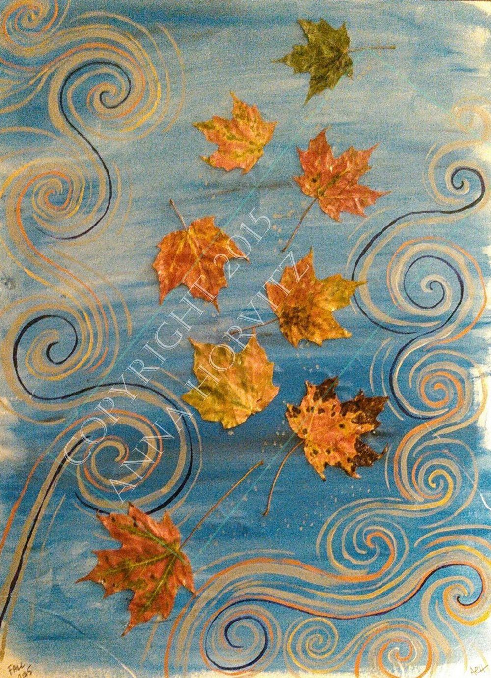 """Fall 2015"" Made with autumn leaves my mother sent to me from her home in the Catskill Mountains in New York"