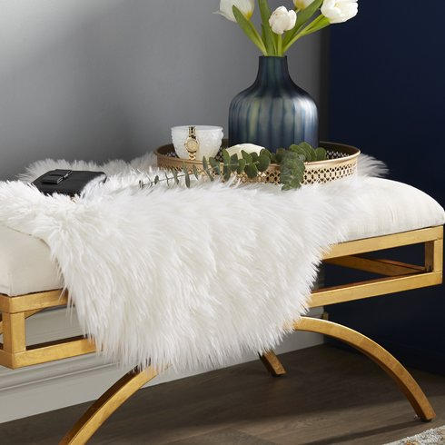 Rafe Leather Entryway Bench