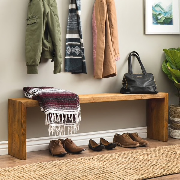 """60"""" Weathered """"Reclaimed Look"""" Bench"""