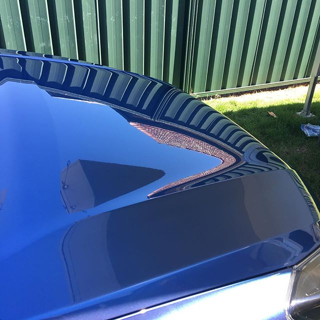 Testing out our new polish system. Detail your boat with us! #alkiraboatshed #shipwright #detailing #shiny