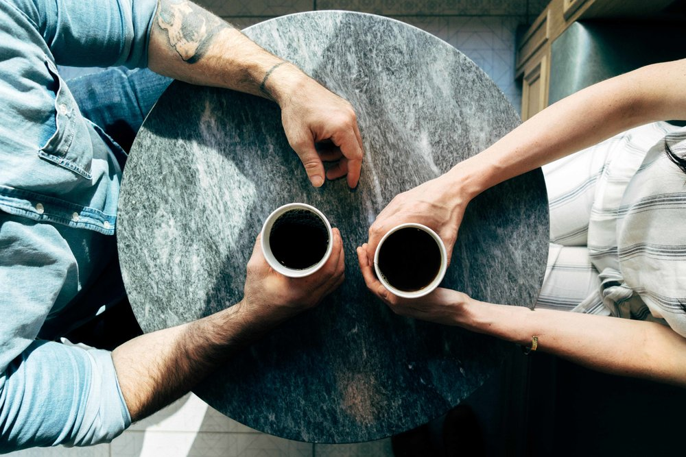Ditch your phone - Just have a cup of coffee.