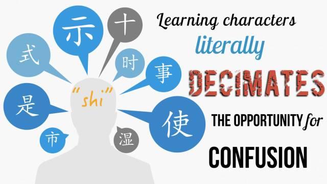 From left to right: 市 shì, 是 shì, 式 shì, 示 shì, 十 shí, 时 shí, 事 shì, 使 shǐ, 湿shī