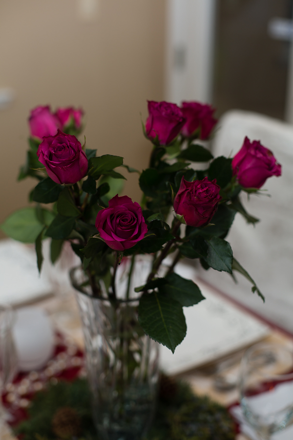 Purple Rose Center Pieces