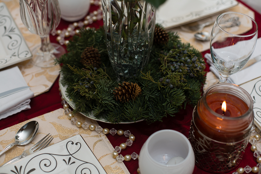 Winter and Fall Pinecone Centerpieces