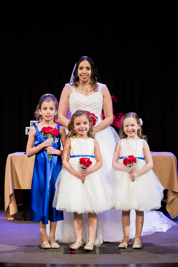 Bride and Her Little Ones