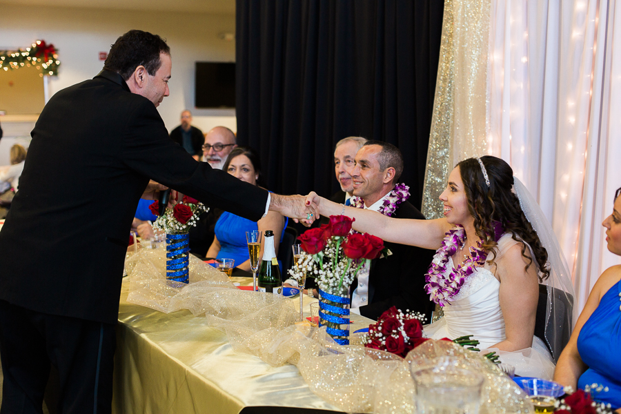 Thankfulness of Bride and Groom