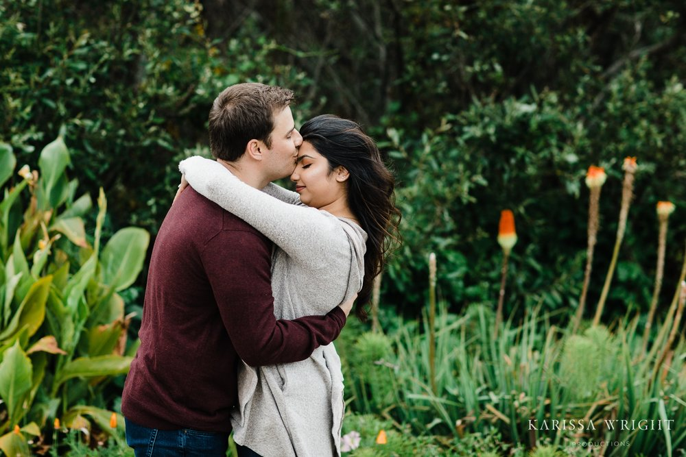 It was as if this was their last kiss during their engagement session at the Pacifica State Beach.