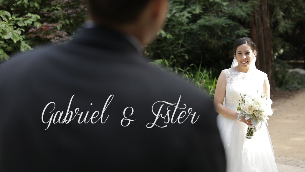 Gabriel and Ester marry in St Charles Borromeo Church in San Fransisco during the fourth of July weekend.