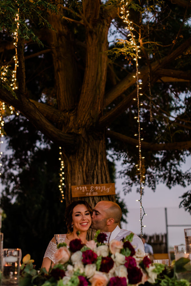 Outdoor Summer Wedding Reception with Twinkling Lights