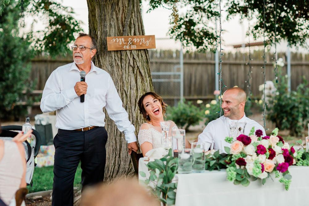 Father's Speech in an Outdoor Summer Wedding