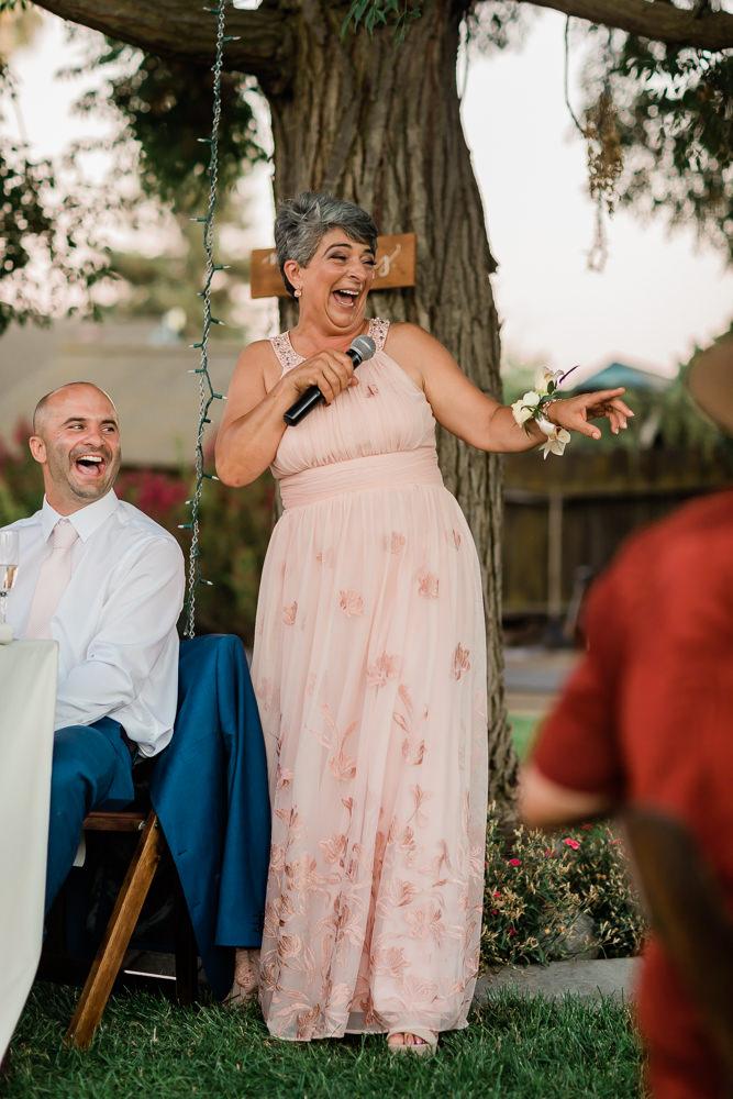 Mother of the Groom Speech in an Outdoor Summer Wedding