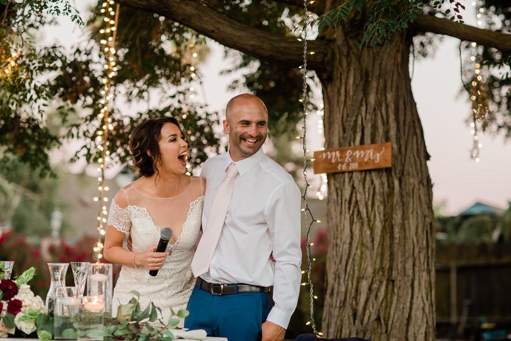 Bride & Groom Speech at an Outdoor Summer Wedding