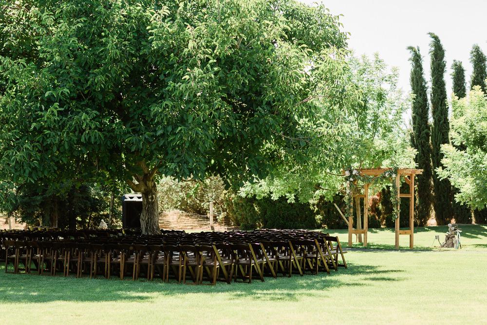 Ceremony at Blom Ranch in Modesto, CA
