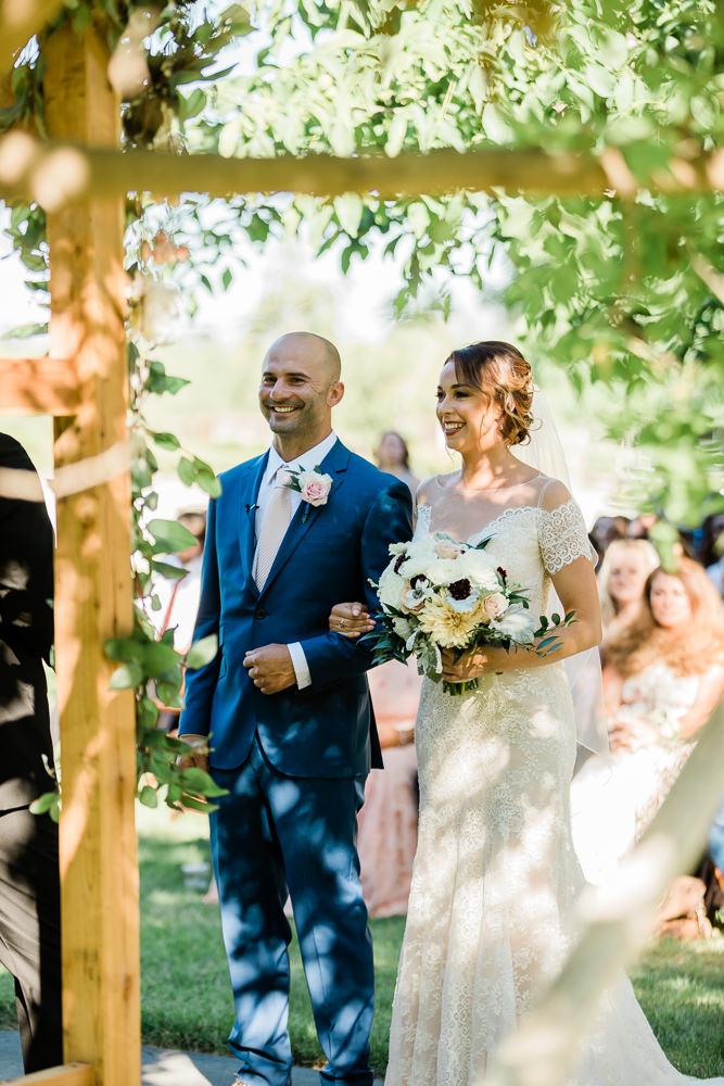 Smiles through the Outdoor Summer Wedding Heat