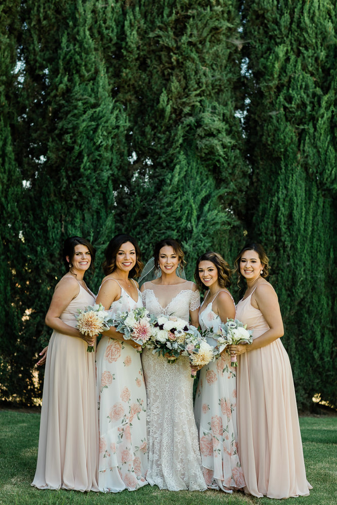 Bridal Party Glam with Florals from Willow Floral Design