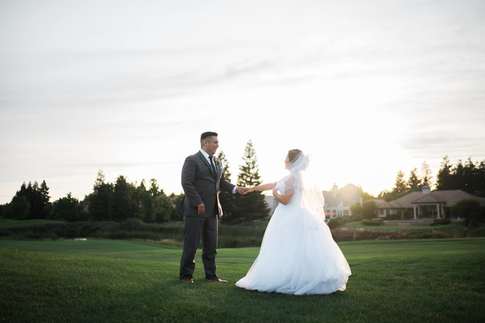 Michael and Leanndra celebrated their union at Stockton's Brookside Country Club. Colorful and grand, the friends and family of the newly weds had dinner, listened to heartfelt speeches and witnessed the couple's firsts.