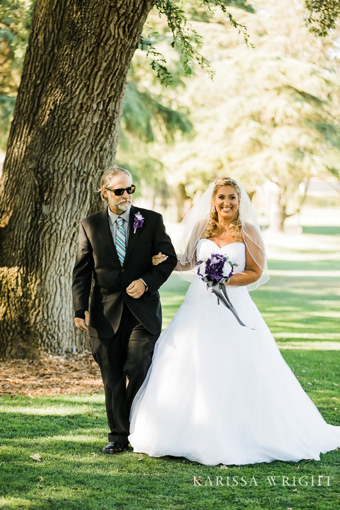 Father and Bride Aisle Moment