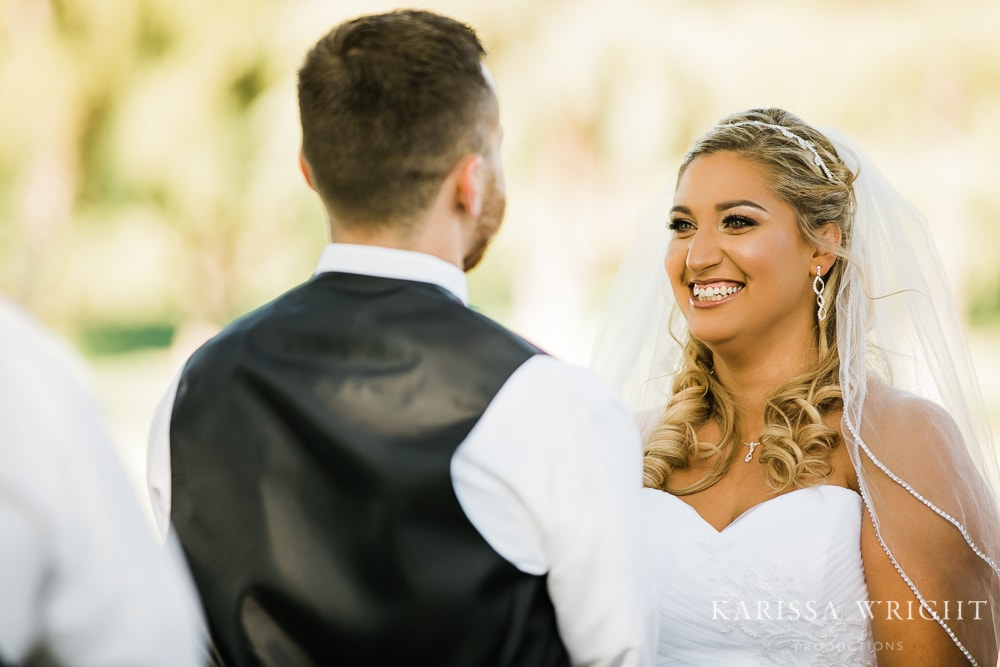 Bride and Groom See Each Other