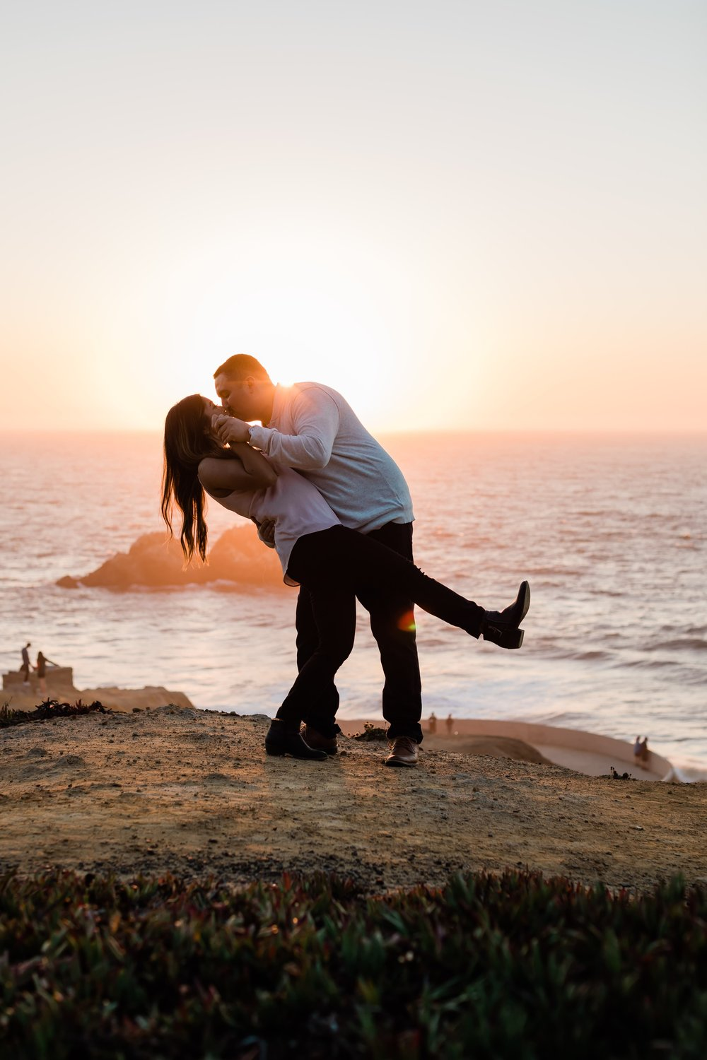 Jared and Janessa had their engagement session in San Fransisco near Sutro's Bath