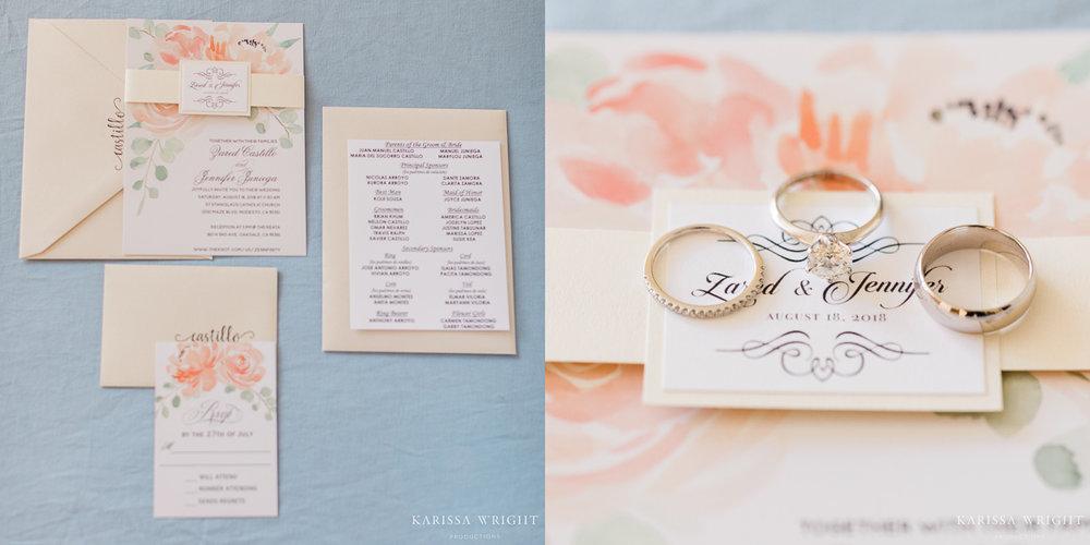 Wedding Invitation Suite & Rings
