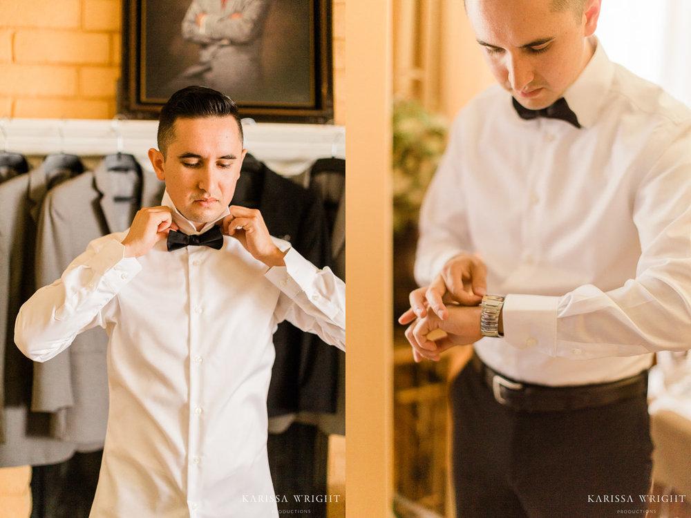 Bowtie & Watch Wedding Details