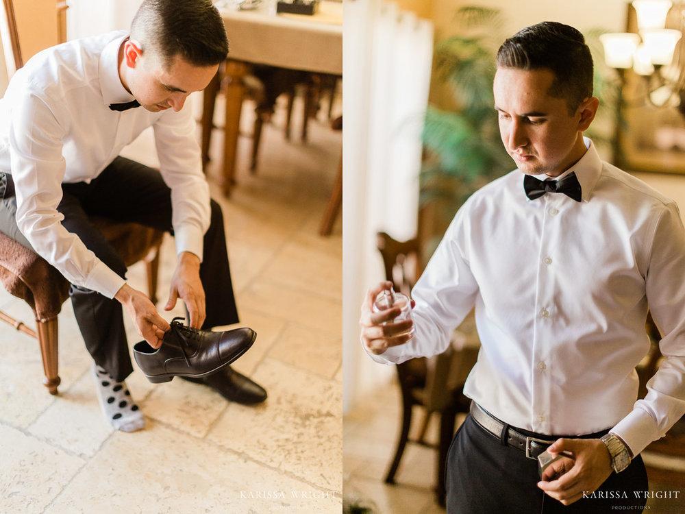 Modesto Wedding Groom Getting Ready
