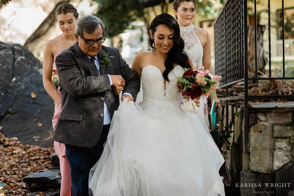 Father walking down the Bride