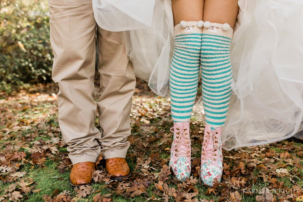 Bride's Elopement Wedding Socks