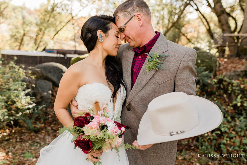 Sparks Ranch Resort Wedding Couple