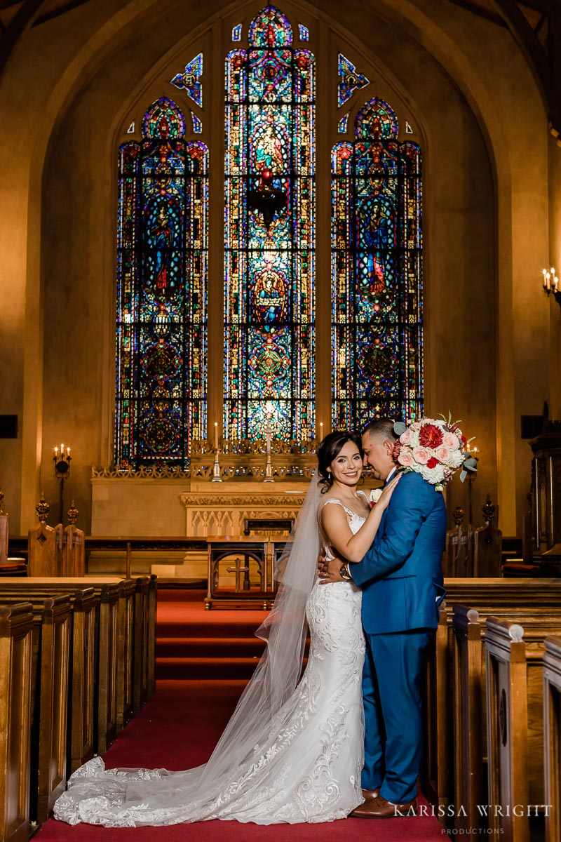 Stain Glass Bride and Groom