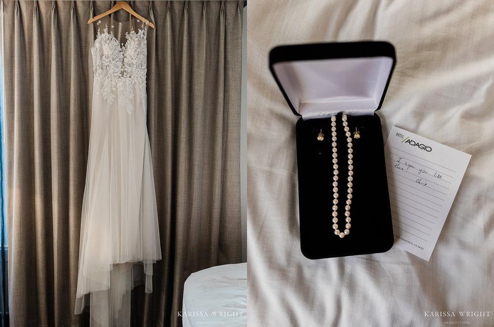 Wedding Dress & Jewelry