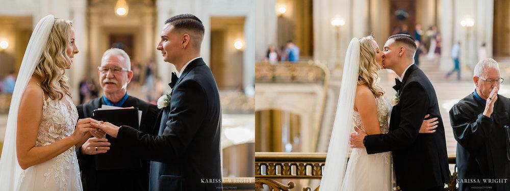 Wedding Ring Exchange & Kiss