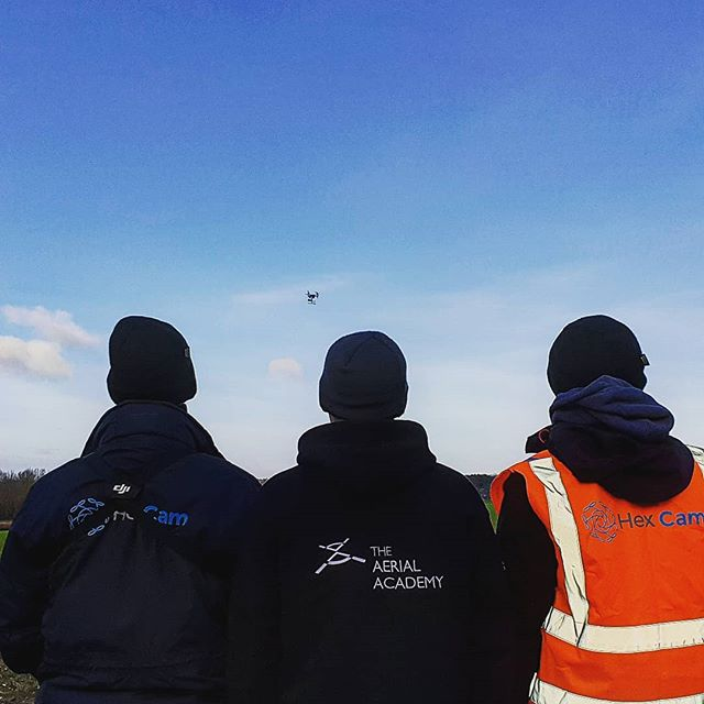 Wrap up warm when flying your drone! #drones #winteroutfit