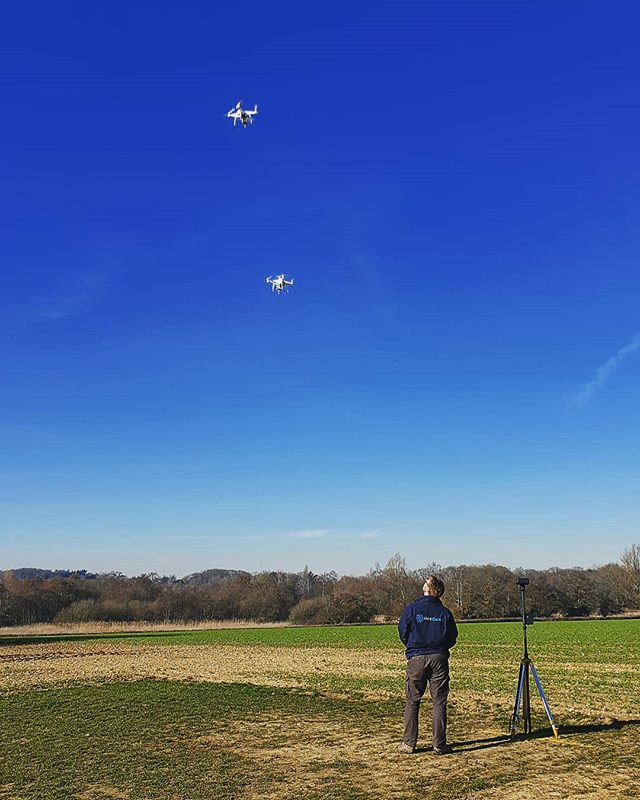 Double droning in a Monday #UAV #Drones #commercialdrones