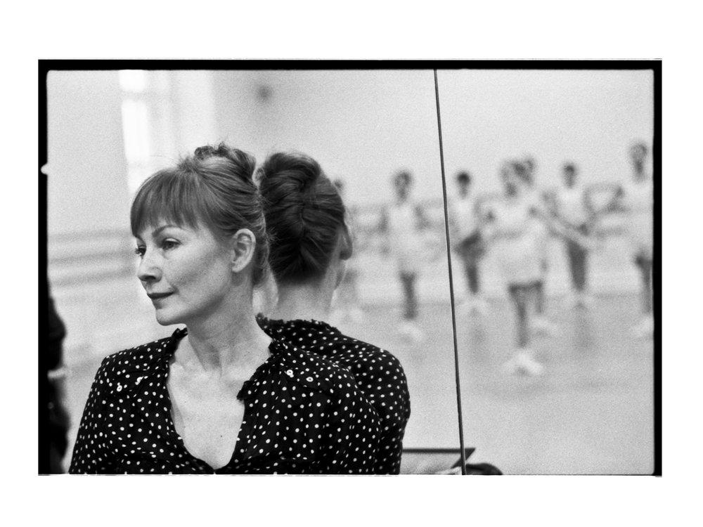 Ekaterina attending ballet class.
