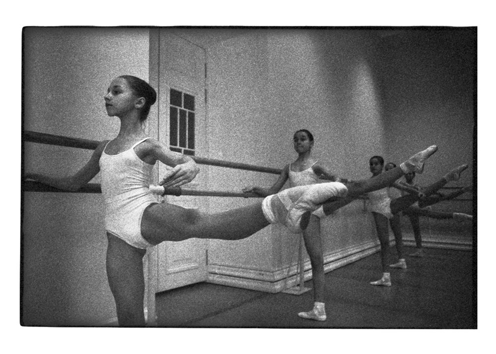 Tatiana at the barre.
