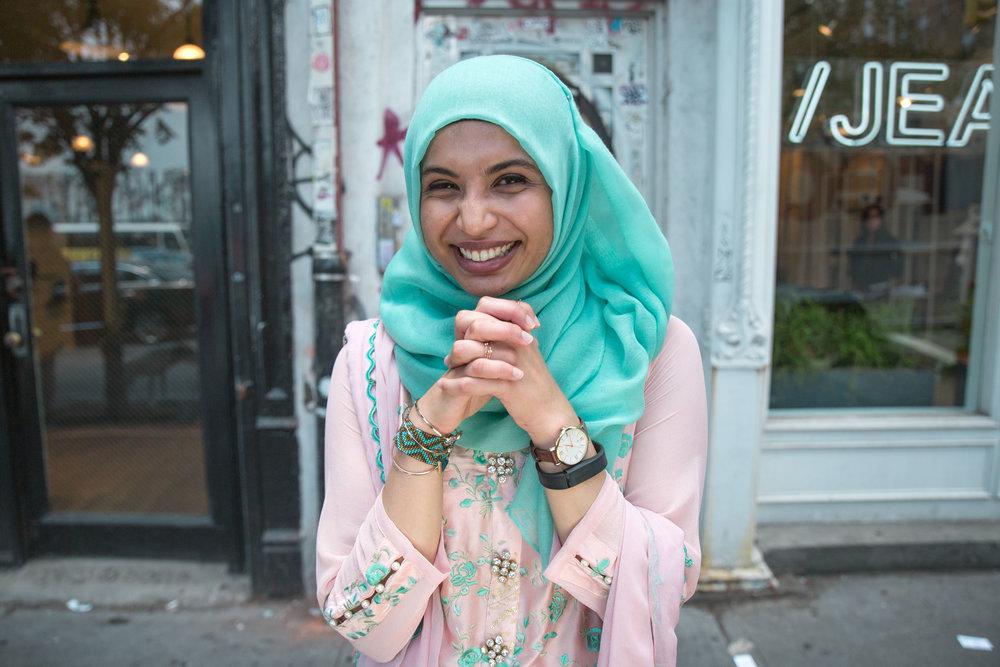 Zahra Usmani , a Pakistani New Yorker.