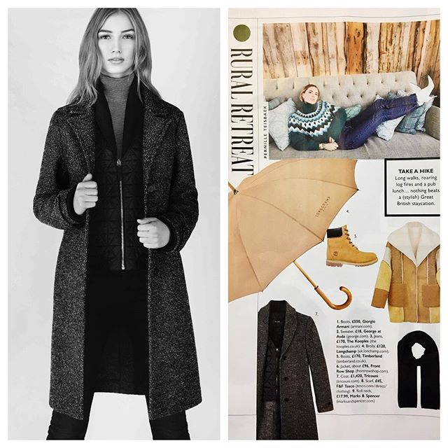 Wow! Thank you @graziauk for including our No.3 TRICOUNI in your Winter Getaway edit. We agree this is the perfect coat for a rural retreat. . #Tricouni #LuxuryThatPerforms #grazia #wintergetaway #luxuryouterwear #coatdisrupters