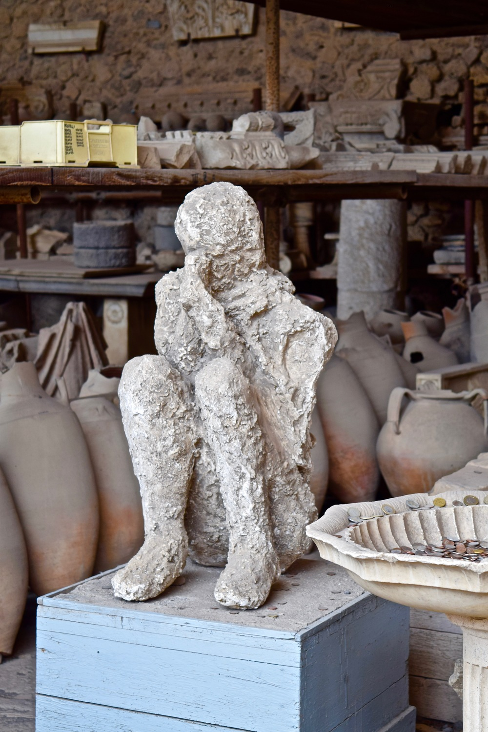 Pompeii's body cast