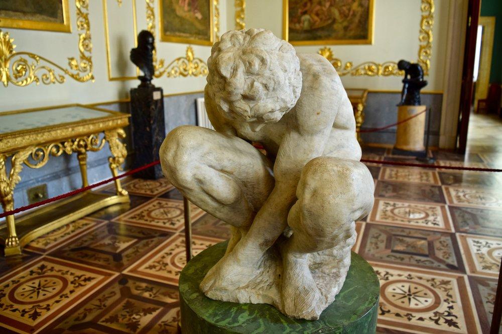 Michelangelo's Crouching Boy