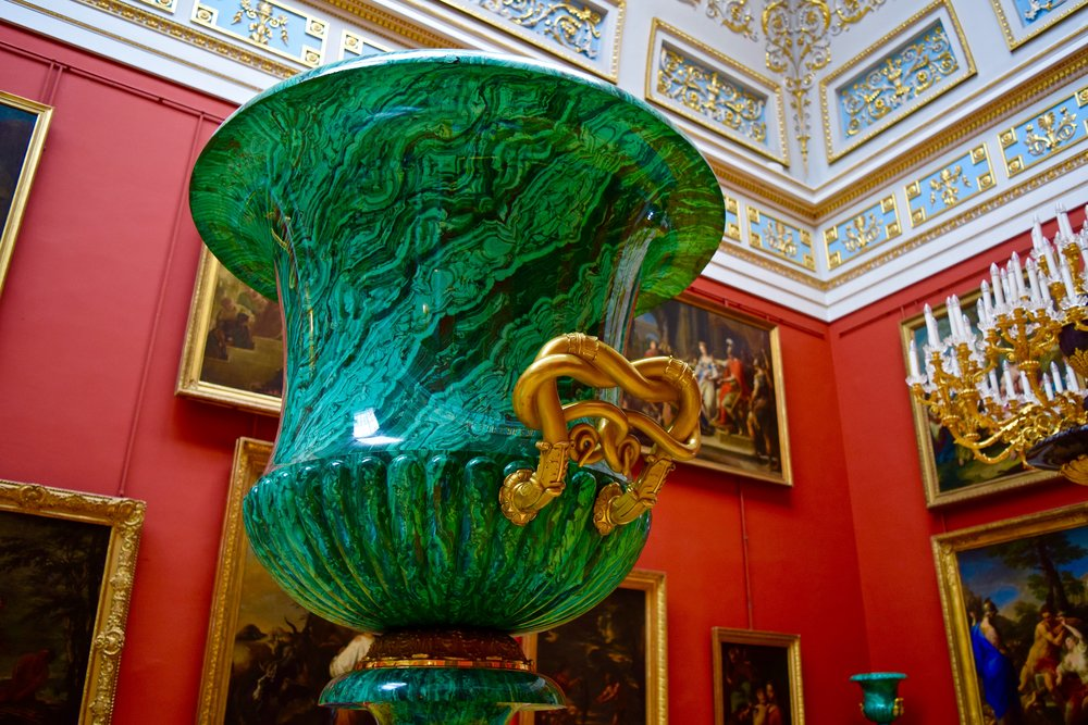Malachite Vase in the Italian Cabinet