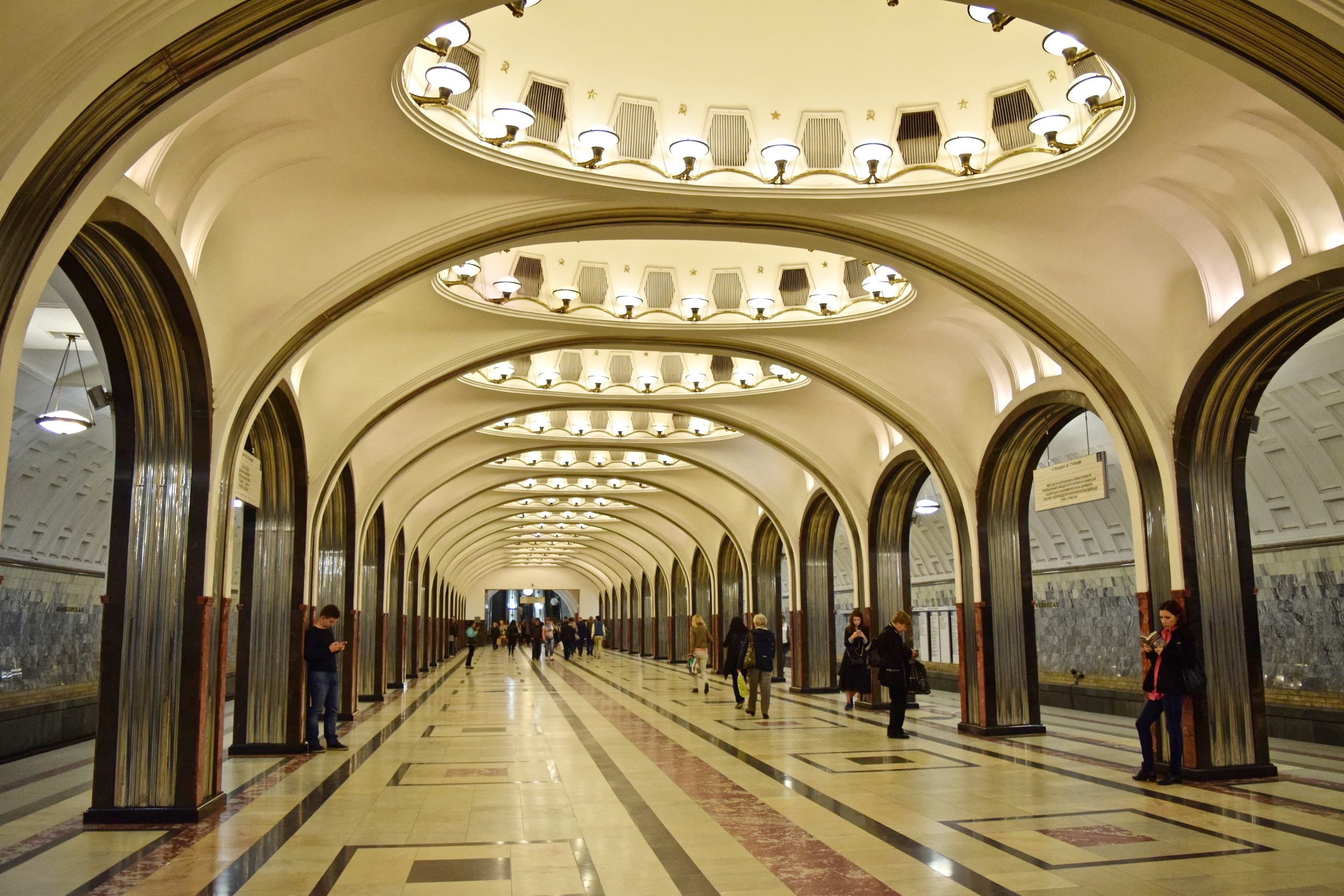 The area of three stations in Moscow. What train stations are on it