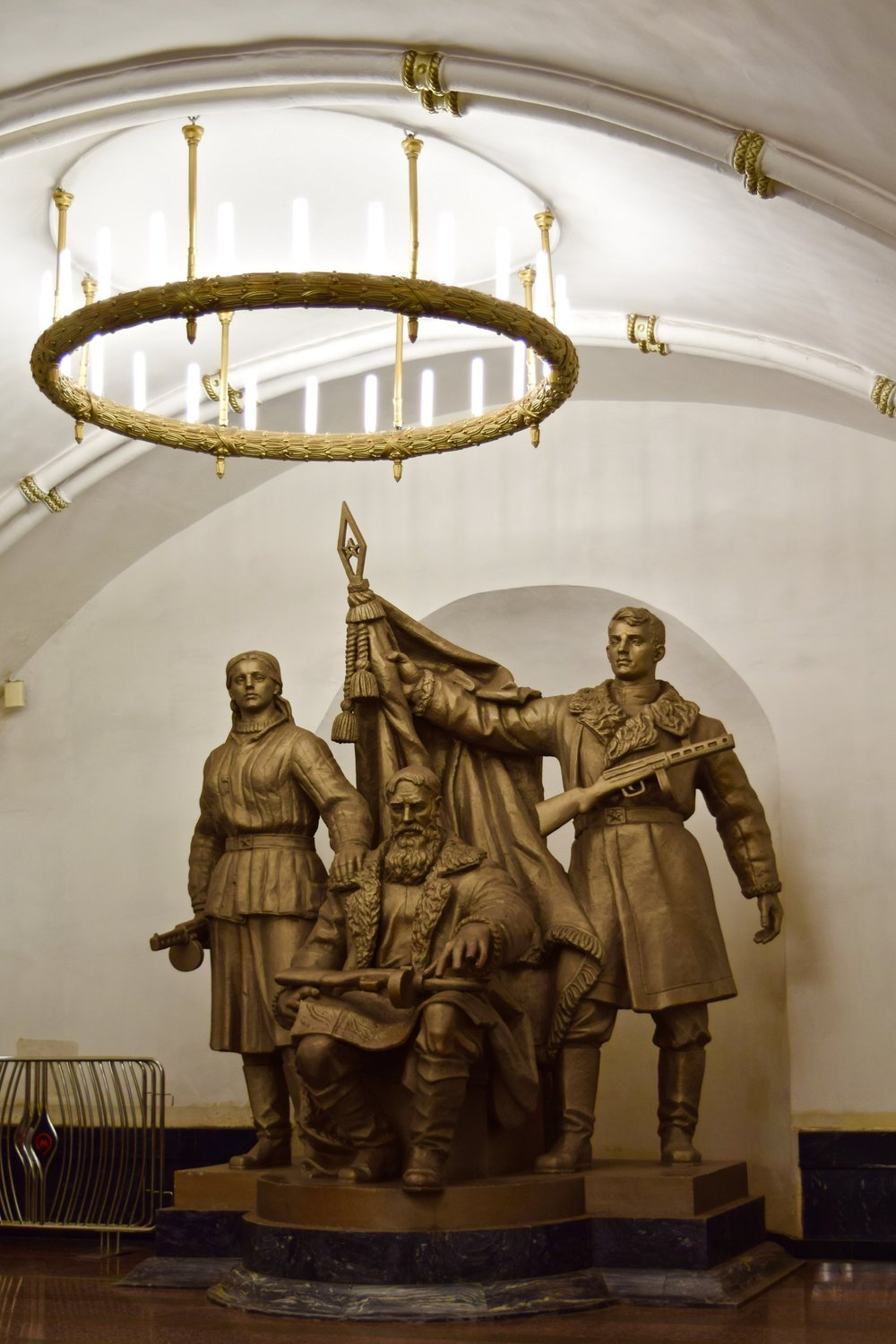 """Belorusian Partisans"" sculpture"