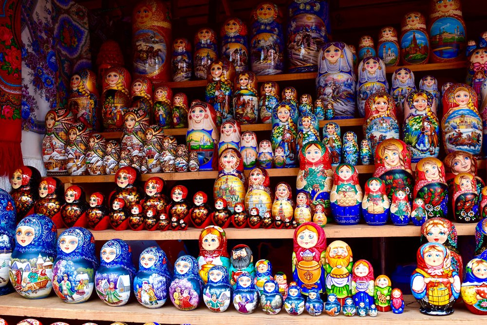 Matryoshka dolls at Izmailovsky Market